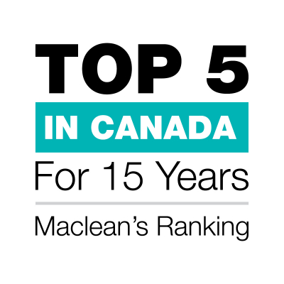 Top 5 in Canada for 15 Years - Maclean's Ranking