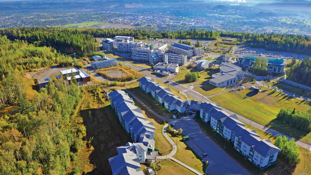 UNBC Campus from above