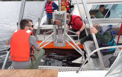 Quesnel Lake coring, July 2016