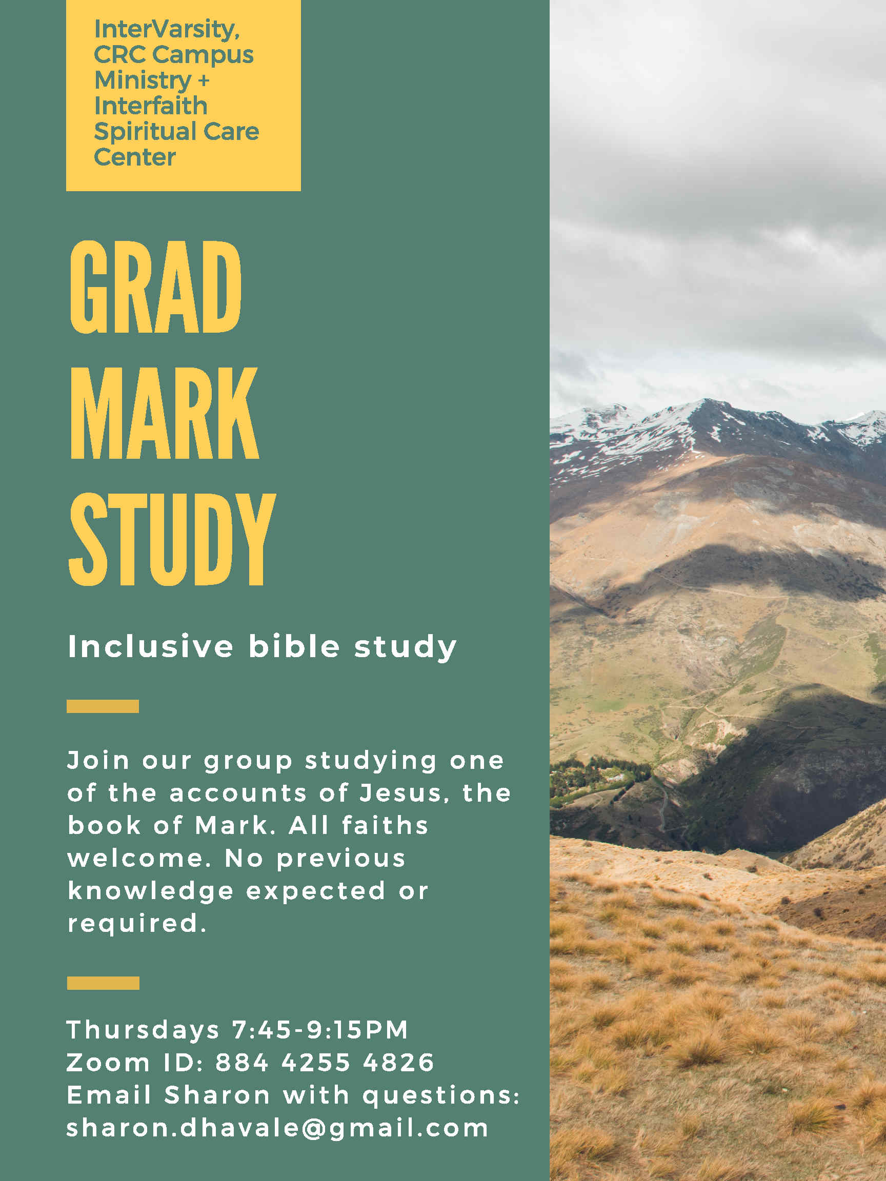 Poster for Mark Study.