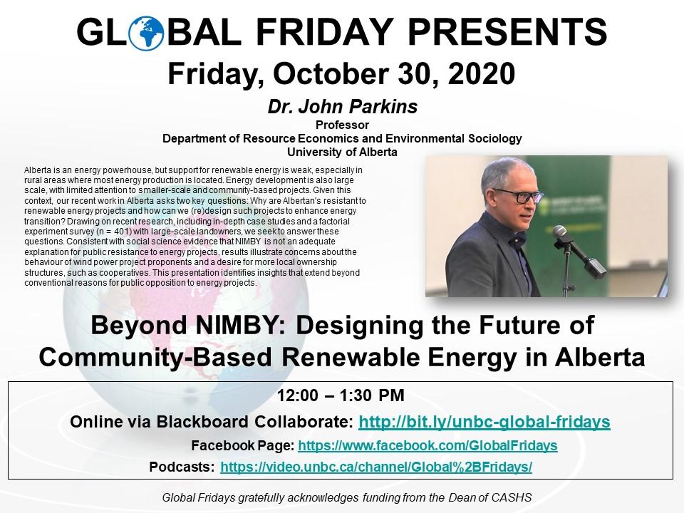 Global Friday Poster - October 30, 2020
