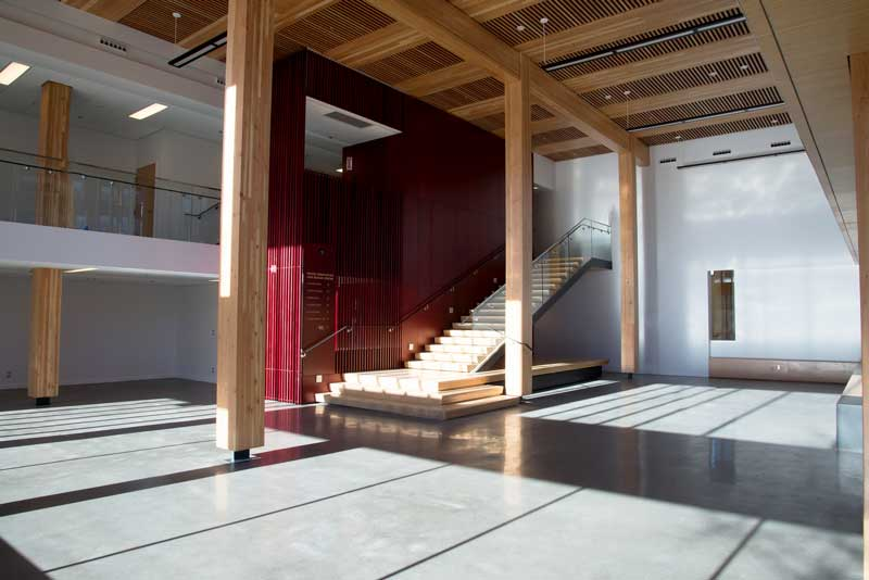 First floor of the Wood Innovation and Design Centre