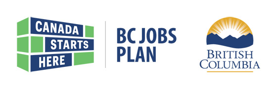 Government of BC Logos - Canada Starts Here - BC Jobs Plan
