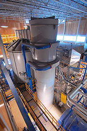 Biomass Gasification System Interior