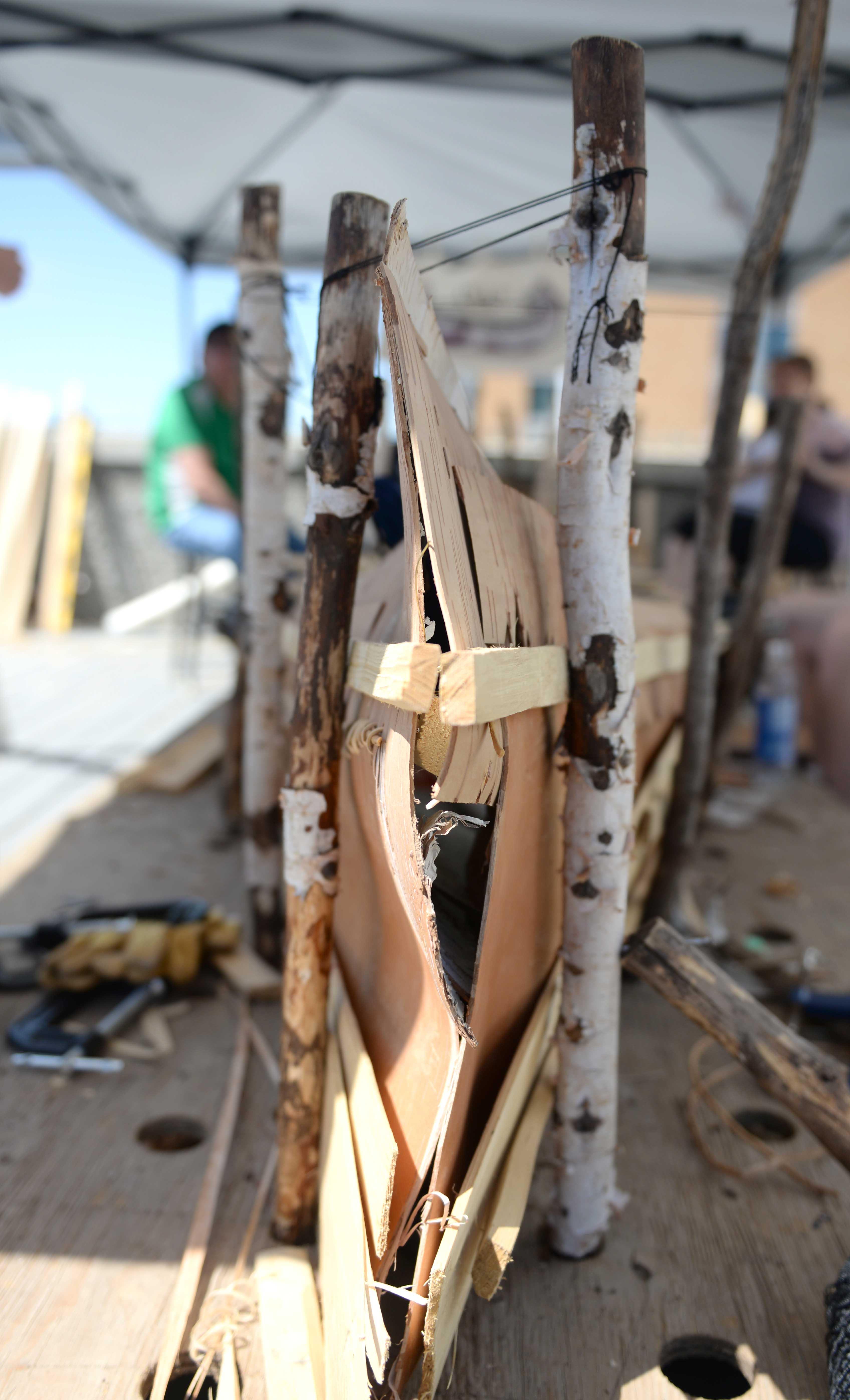 Canoe under construction