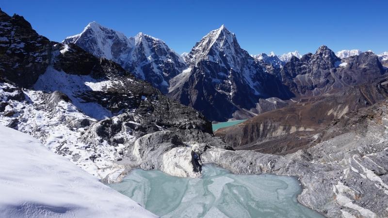 Tobuche (left) and Tabuche (right) peaks in the Khumbu Valley, Nepal Himalaya.