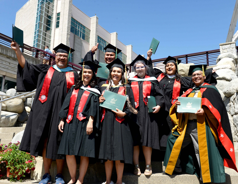 Indigenous students at 2019 Grad ceremonies.