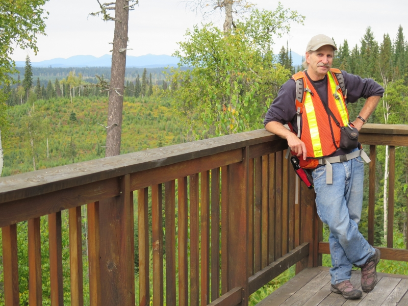 Hugues Massicotte in the field at Aleza Lake Research Forest