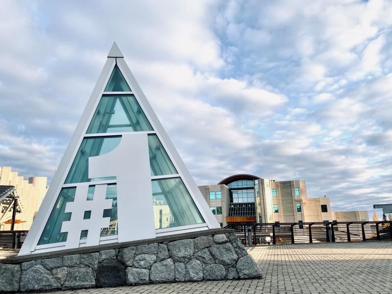 #1 graphic on UNBC campus iceberg architecture