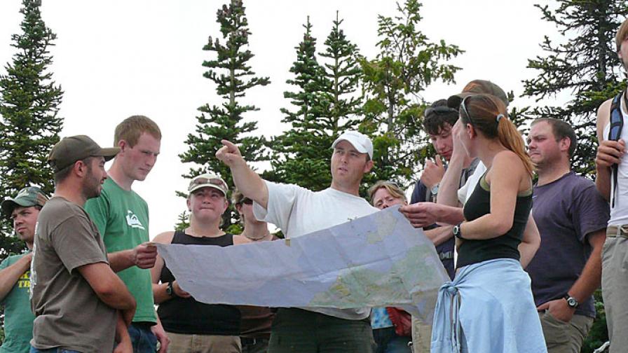 Wildlife fisheries students