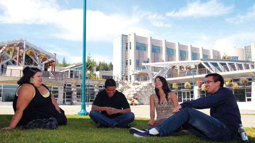 UNBC Students on campus