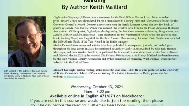 Keith Maillard Reading