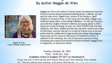Maggie de Vries Reading