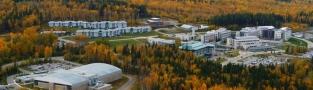 Aerial view of UNBC Campus