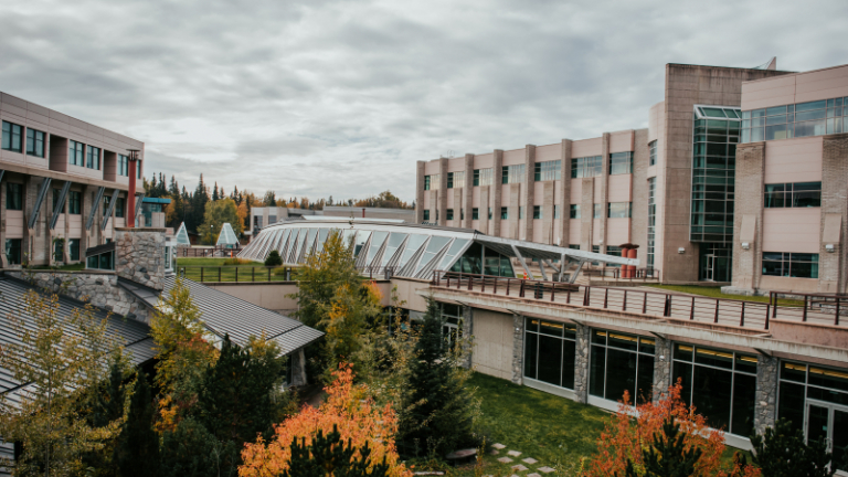 Fall colours at the Prince George campus.