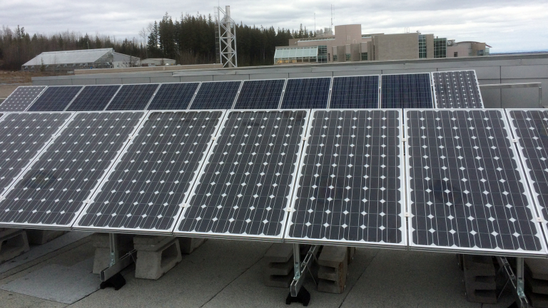 solar panels on conference centre