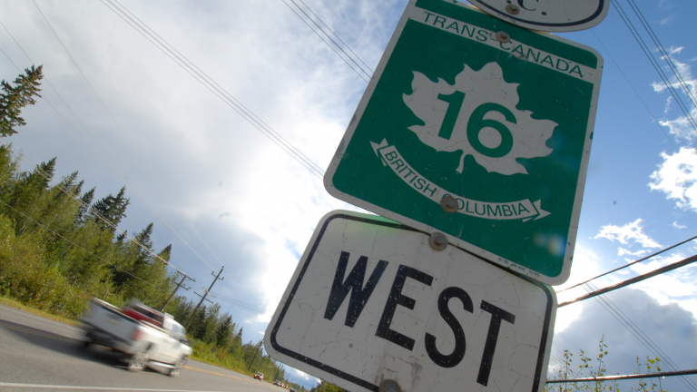Highway 16 road sign