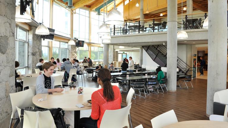 Dining at Agora Dining Hall