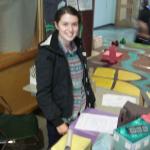 Student Irene McKechnie undertaking research.
