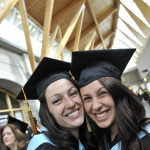 Lauren Movold and Caitlin Tates from Prince Rupert, BC, Bachelor of Education graduates.