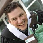 Shane Hartman from Fraser Lake, BC, Master of Natural Resources and Environmental Studies (aboriginal Tourism) graduate.