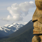 Totem pole in the Northwest