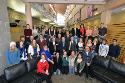 First year NMP students with dignitaries at the 10th anniversary event