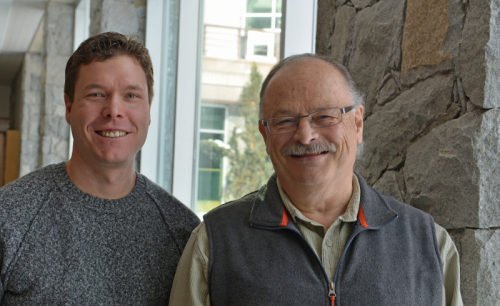 Dr. Travis Holyk, Carrier Sekani Family Services and Dr. Henry Harder, UNBC