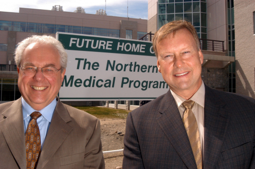 UNBC President Charles Jago and Duke Director of Pipeline Operations Stan Watchhorn