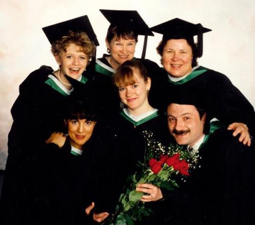 Group of UNBC's first graduates