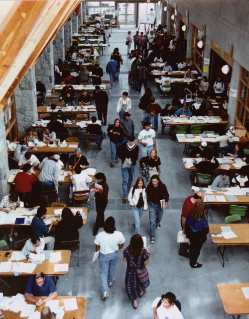 Students register at UNBC for the first time
