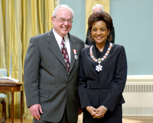 Charles Jago and Governor General Michelle Jean