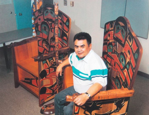 Ron Sebastian with the Ceremonial Chairs