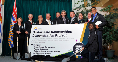 Revealing of UNBC's Sustainable Communities Demonstration Project