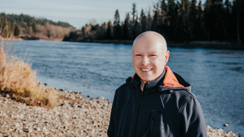 Dr. Stephen Déry along the Nechako River