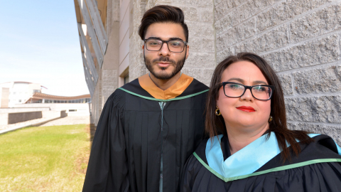 Faran Rashid and Shelly Niemi UNBC Valedictorians