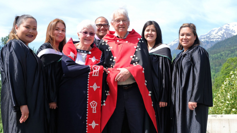 WWNI graduates with Justice Thomas and Beverly Berger