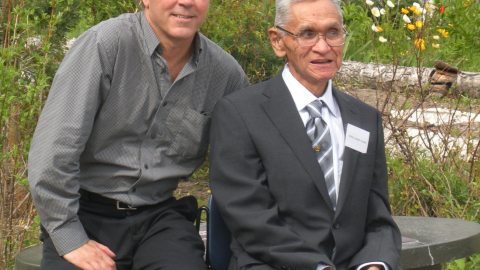 Dr. Ross Hoffman and Gisdewe Alfred Joseph in 2009.