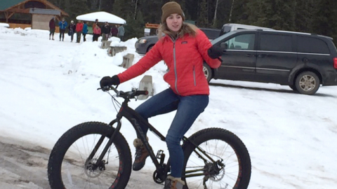 Students had the opportunity to test out the trails in the winter