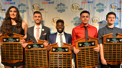 UNBC athletes of the year winners
