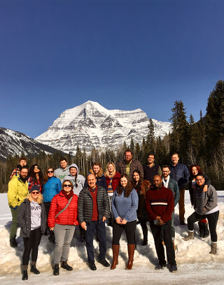 Geography group at Mt. Robson